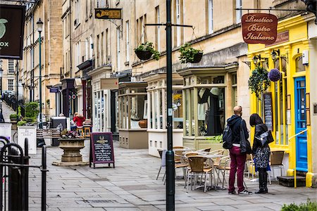 european bar building - Street scene with stores and restaurants, Bath, Somerset, England, United Kingdom Stock Photo - Rights-Managed, Code: 700-08145883