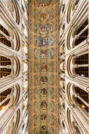 design (motif, artistic composition or finished product) - Interior of vaulted ceiling, Ely Cathedral, Ely, Cambridgeshire, England, United Kingdom Stock Photo - Rights-Managed, Code: 700-08145899