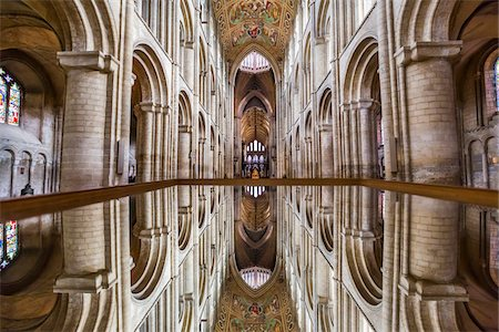 Mirrored image of Ely Cathedral, Ely, Cambridgeshire, England, United Kingdom Stock Photo - Rights-Managed, Code: 700-08145900
