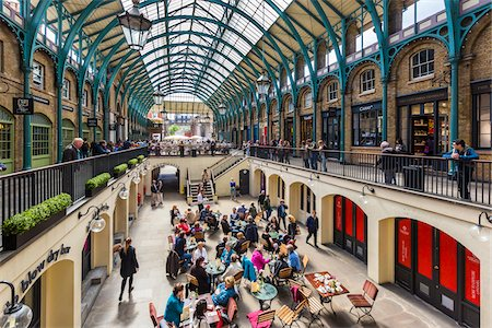people on mall - Covent Garden, London, England, United Kingdom Stock Photo - Rights-Managed, Code: 700-08145989