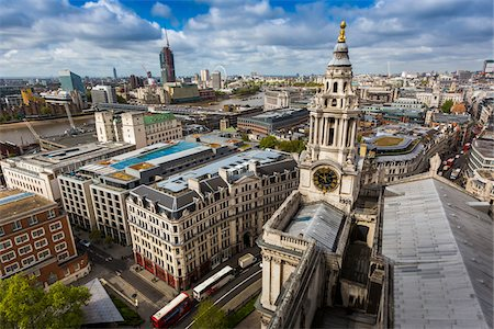 Clock Tower from St Paul's Cathedral, London, England, United Kingdom Stock Photo - Rights-Managed, Code: 700-08146126