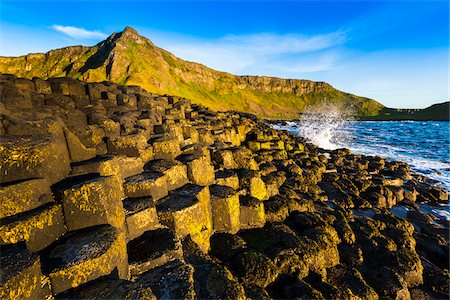 Basalt Columns at Giant's Causeway, near Bushmills, County Antrim, Northern Ireland, United Kingdom Stock Photo - Rights-Managed, Code: 700-08146157
