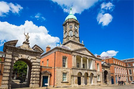 Bedford Tower and Gates of Fortitude and Justice, Dublin Castle, Dublin, Leinster, Ireland Stock Photo - Rights-Managed, Code: 700-08146286
