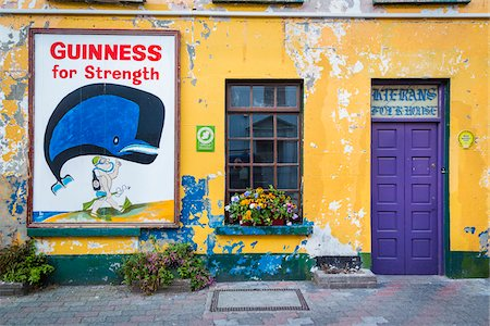 Close-up of building with Guinness sign, Kinsale, County Cork, Ireland Stock Photo - Rights-Managed, Code: 700-08146354