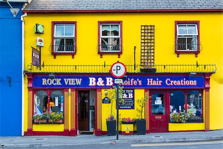 quaint - Brightly colored buildings, street scene, Kinsale, County Cork, Ireland Stock Photo - Rights-Managed, Code: 700-08146356