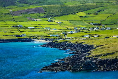 Scenic, coastal view of St Finian's Bay, along the Skellig Coast on the Ring of Kerry, County Kerry, Ireland Stock Photo - Rights-Managed, Code: 700-08146392