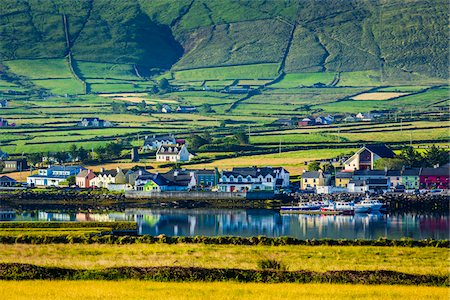 Scenic view of harbour and waterfront, Portmagee, along the Skellig Coast on the Ring of Kerry, County Kerry, Ireland Stock Photo - Rights-Managed, Code: 700-08146413