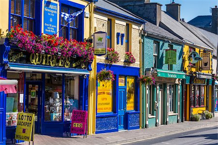 Colorful buildings and street scene, Caherciveen, along the Skellig Coast on the Ring of Kerry, County Kerry, Ireland Stock Photo - Rights-Managed, Code: 700-08146427