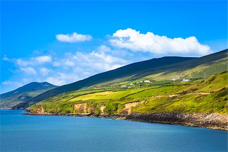 european hillside town - Scenic view of the Inch Beach Area, Dingle, County Kerry, Ireland Stock Photo - Rights-Managed, Code: 700-08146433