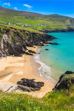Scenic, coastal overview, Slea Head, Slea Head Drive, Dingle Peninsula, County Kerry, Ireland Stock Photo - Rights-Managed, Code: 700-08146451