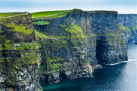 Close-up coastal view of the Cliffs of Moher, County Clare, Ireland Stock Photo - Rights-Managed, Code: 700-08146464