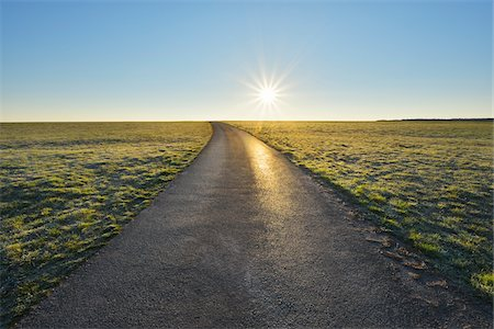 Road with Sun in the Morning, Spring, Gottersdorf, Neckar-Odenwald-District, Odenwald, Baden Wurttemberg, Germany Stock Photo - Rights-Managed, Code: 700-08146497