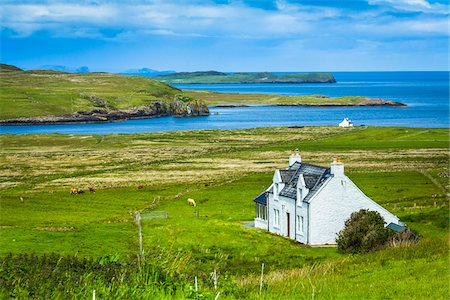 scenic view - Kilmaluag, Trotternish, Isle of Skye, Scotland, United Kingdom Stock Photo - Rights-Managed, Code: 700-08167278