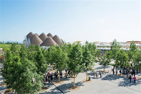 Zero Pavilion and main entrance at Milan Expo 2015, Italy Stock Photo - Rights-Managed, Code: 700-08167335