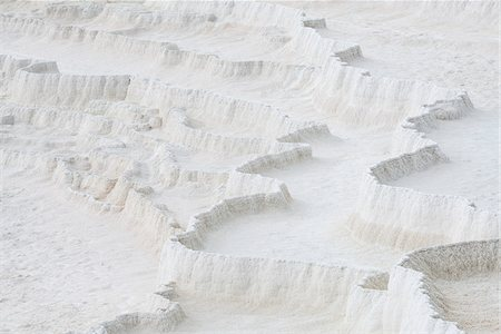 Travertine rock formations, Pamukkale, Turkey Stock Photo - Rights-Managed, Code: 700-08171629