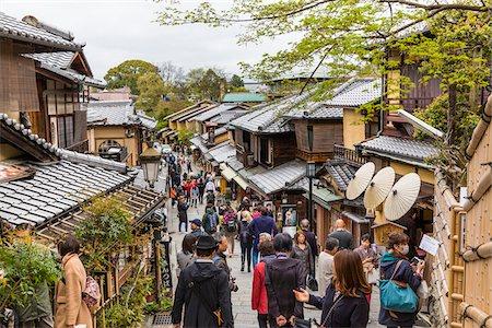 Traditional Architecture on Sannen-Zaka, Higashiyama, Kyoto, Japan Stock Photo - Rights-Managed, Code: 700-08274196