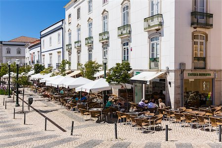 square - Cafes with Outdoor Seating, Praca da Republica, Tavira, Algarve, Portugal Stock Photo - Rights-Managed, Code: 700-08280346