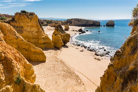 portugal - Rock Formations at Praia de Sao Rafael, Albufeira, Algarve, Portugal Stock Photo - Rights-Managed, Code: 700-08353366