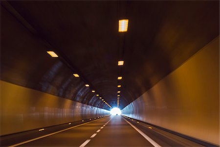 Car Driving in Tunnel, Italy, Europe Stock Photo - Rights-Managed, Code: 700-08353470