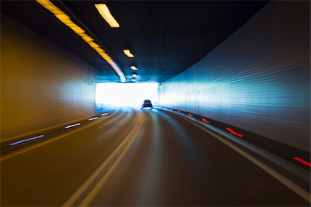 Car Driving in Tunnel, Italy, Germany Stock Photo - Rights-Managed, Code: 700-08353471