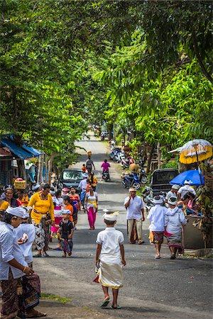 Street scene at Temple Festival, Petulu Village, near Ubud, Gianyar, Bali, Indonesia Stock Photo - Rights-Managed, Code: 700-08385819