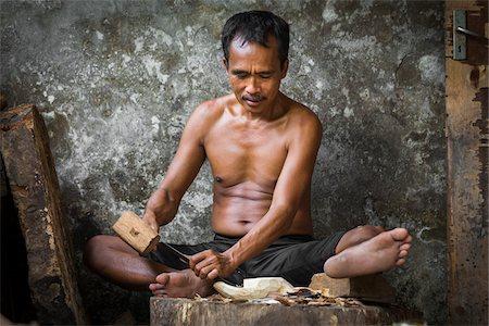 Woodcarver, Petulu near Ubud, Bali, Indonesia Stock Photo - Rights-Managed, Code: 700-08385822
