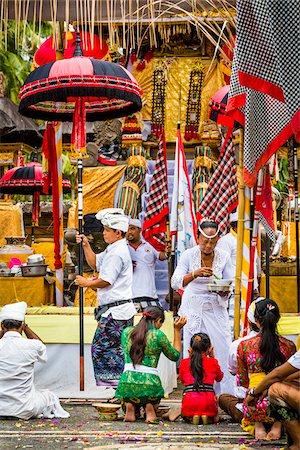 People praying, Temple Festival, Petulu, near Ubud, Bali, Indonesia Stock Photo - Rights-Managed, Code: 700-08385839