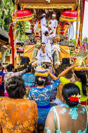 People carrying religious offerings, Temple Festival, Petulu, near Ubud, Bali, Indonesia Stock Photo - Rights-Managed, Code: 700-08385840