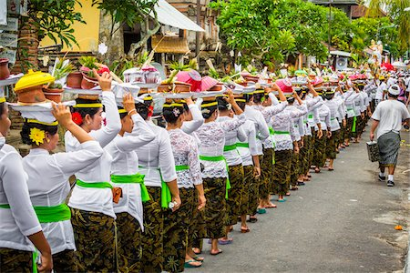 Procession at a cremation ceremony for a high priest in Ubud, Bali, Indonesia Stock Photo - Rights-Managed, Code: 700-08385856