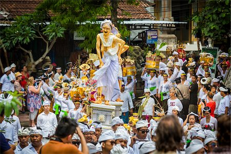 An effigy of Rangda the Witch at a cremation ceremony for a high priest in Ubud, Bali, Indonesia Stock Photo - Rights-Managed, Code: 700-08385884