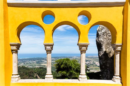 Courtyard of the Arches, Palacio da Pena, UNESCO World Heritage Site, Sintra, Portugal Stock Photo - Rights-Managed, Code: 700-08519599