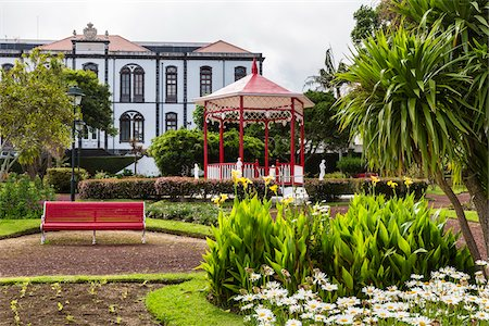 Bandstand at the Jardim Florencio Terra, Horta, Faial Island, Azores, Portugal Stock Photo - Rights-Managed, Code: 700-08567250