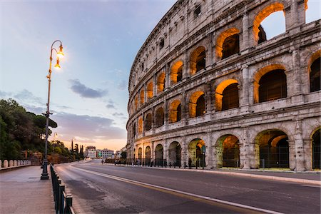 Illuminated Colosseum at dawn, UNESCO World Heritage Site, Rome, Italy Stock Photo - Rights-Managed, Code: 700-08576134