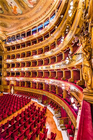 photograph - Seating in Interior of Teatro Massimo in Palermo, Sicily, Italy Stock Photo - Rights-Managed, Code: 700-08701853