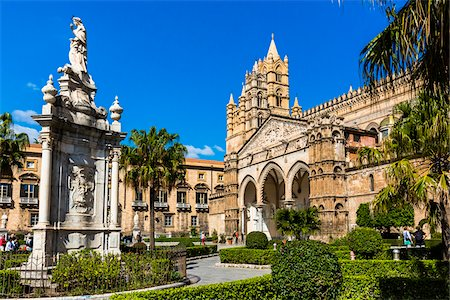 Grand, historic Palermo Cathedral in Palermo, Sicily in Italy Stock Photo - Rights-Managed, Code: 700-08701918