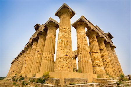 Temple of Hera at Selinunte an Ancient Greek City and Archaeological Site in Sicily, Italy Stock Photo - Rights-Managed, Code: 700-08701985