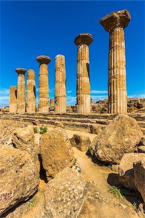 Temple of Heracles at Valle dei Templi in Ancient Greek City at Agrigento, Sicily, Italy Stock Photo - Rights-Managed, Code: 700-08702027