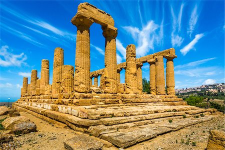 Temple of Juno at Valle dei Templi in Ancient Greek City at Agrigento, Sicily, Italy Stock Photo - Rights-Managed, Code: 700-08702036