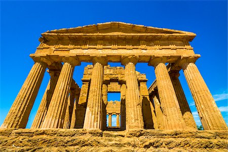 Temple of Concordia at Valle dei Templi in Ancient Greek City at Agrigento, Sicily, Italy Stock Photo - Rights-Managed, Code: 700-08702031