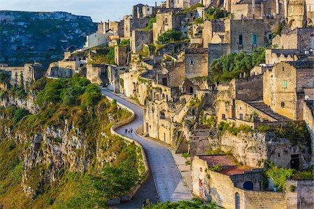 Road through Sassi, Matera, Basilicata, Italy Stock Photo - Rights-Managed, Code: 700-08737476