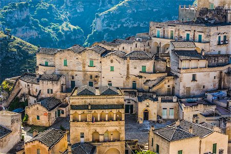 Overview of Sassi, Matera, Basilicata, Italy Stock Photo - Rights-Managed, Code: 700-08737471