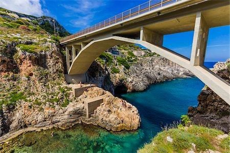 The Ciolo Bridge at Gagliano del Capo in Puglia, Italy Stock Photo - Rights-Managed, Code: 700-08739618