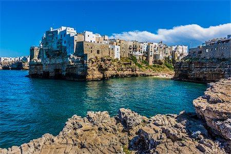 Coastal View of Polignano a Mare, Puglia, Italy Stock Photo - Rights-Managed, Code: 700-08739675