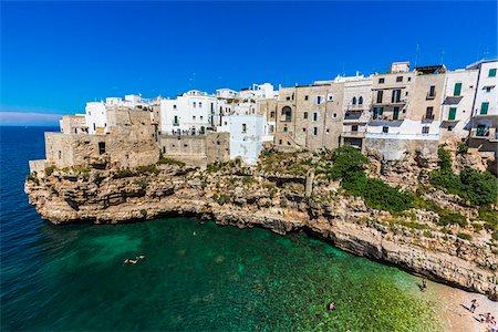 Coastal View of Polignano a Mare, Puglia, Italy Stock Photo - Rights-Managed, Code: 700-08739672