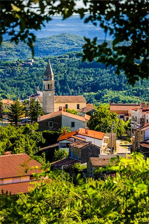 Overview of rooftops in the picturesque town of Kaldir (Caldier) in Istria, Croatia Stock Photo - Rights-Managed, Code: 700-08765527