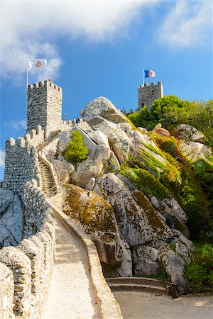 portuguese (places and things) - Castelo dos Mouros, Sintra Municipality, Lisboa, Portugal Stock Photo - Rights-Managed, Code: 700-08865184