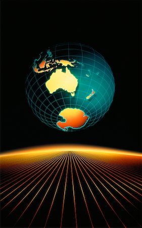 Globe Australia and South Pole Stock Photo - Rights-Managed, Code: 700-00004550