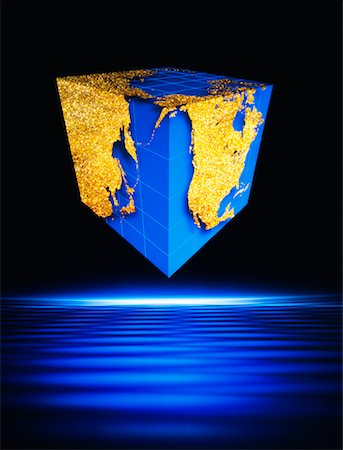 Cube World Map Stock Photo - Rights-Managed, Code: 700-00009477