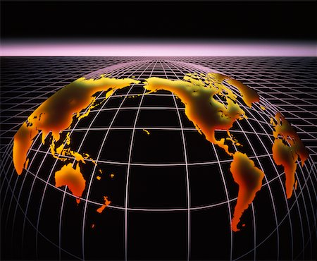 Globe on Grid Stock Photo - Rights-Managed, Code: 700-00001457