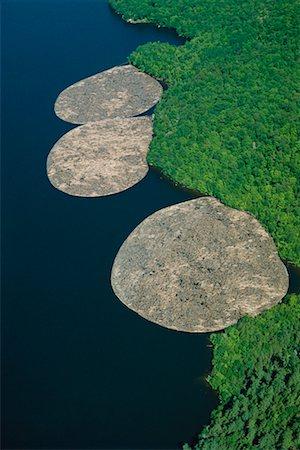 Log Booms Ottawa River, Ontario, Canada Stock Photo - Rights-Managed, Code: 700-00014934